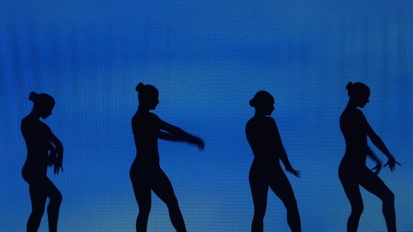 Thumbnail for Silhouette Of Sexy Girl Dancers