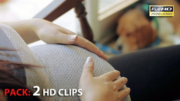 Thumbnail for Pregnant On Rocking Chair. Pack 2 Full HD Clips.