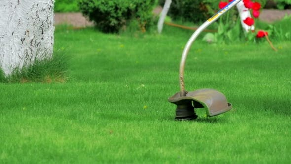 Thumbnail for Lawn Mower Worker Cutting Grass