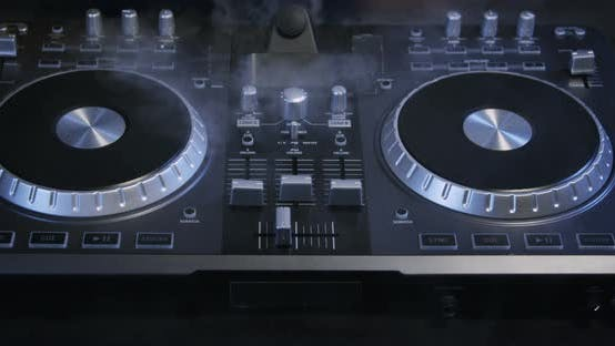 Thumbnail for DJ Mixer And Spinning Turntable 35b