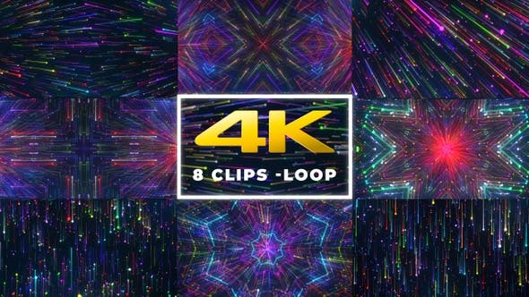 Thumbnail for VJ Loop Particular Background - 8 Pack