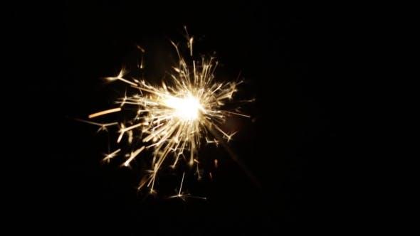 Thumbnail for Burning Sparkler Or Bengal Light In Darkness