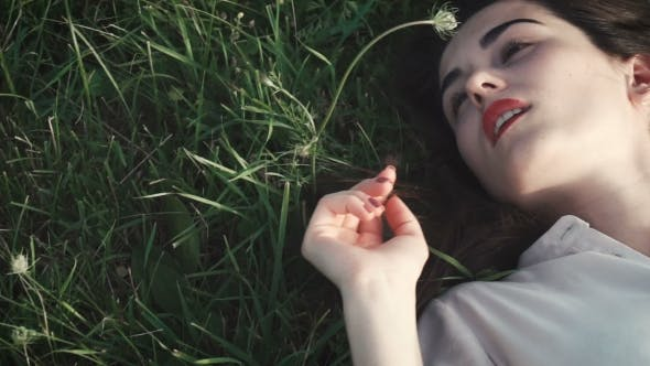 Thumbnail for Beautiful Girl Lying On The Grass