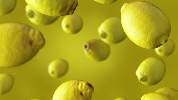 Thumbnail for Falling Lemons And Water Drops