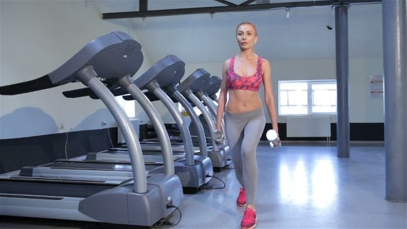 Thumbnail for Woman Does Step-up Exercise At The Fitness Centre