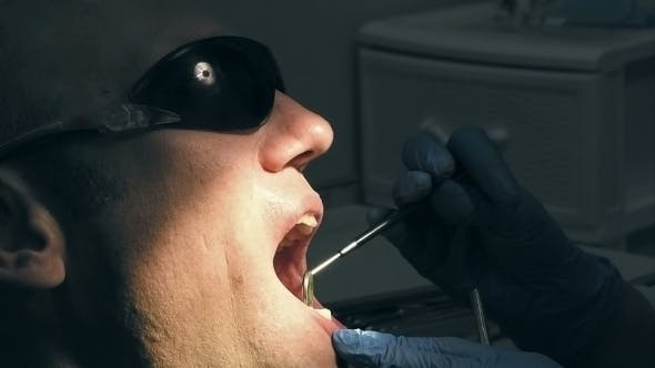 Thumbnail for Man Gets Dentist Medical Mouth Teeth Examination