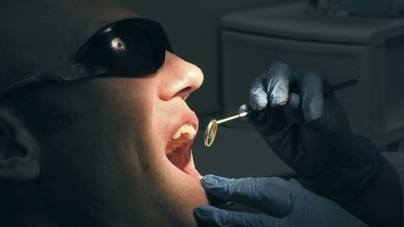 Thumbnail for Middle Aged Man Gets Dental Mouth Teeth Treatment