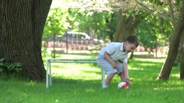 Thumbnail for Boy Playing Ball In The Park