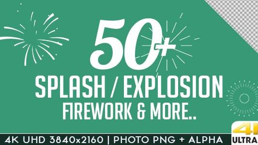 Thumbnail for Splash Explosion Fireworks Animated Shapes