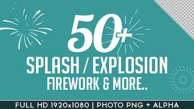 Splash Explosion Fireworks Animated Shapes