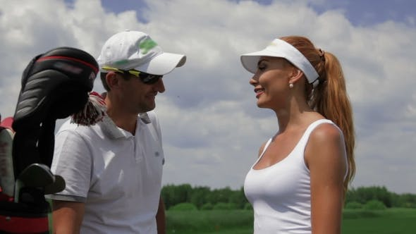 Thumbnail for Instructor Ask Question To The Female Player About Golf