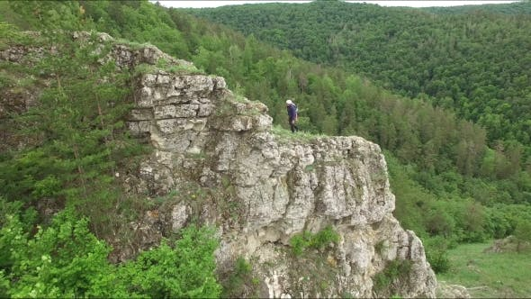 Thumbnail for Rock Climber On Cliff