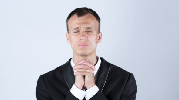Thumbnail for Tense Man Praying for Better Results