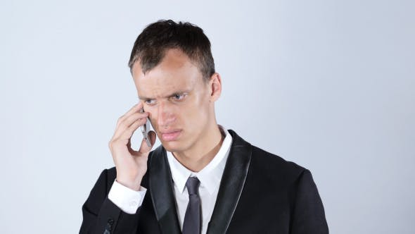 Cover Image for Angry Man Talking on Phone, Gesture