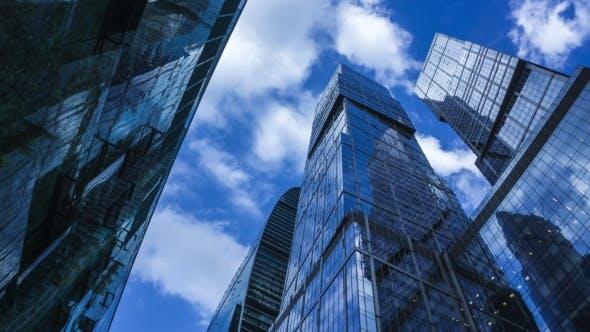 Shiny Reflective Skyscrapers