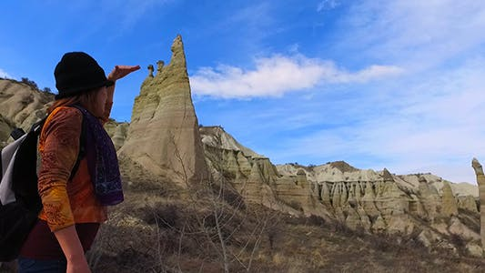 Woman in Cappadocia