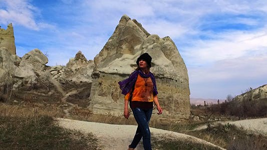Cover Image for Young Woman in Cappadocia-Turkey