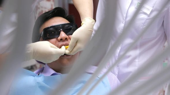 Thumbnail for Through Decoration On Dentist Making Teeth Mold For Prosthetics, Healing Oral Cavity