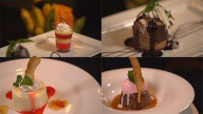 Rotating Gourmet Desserts