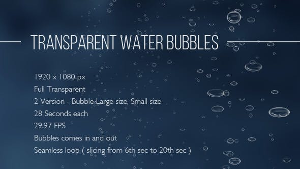 Thumbnail for Transparent Water Bubbles – 2 Variation