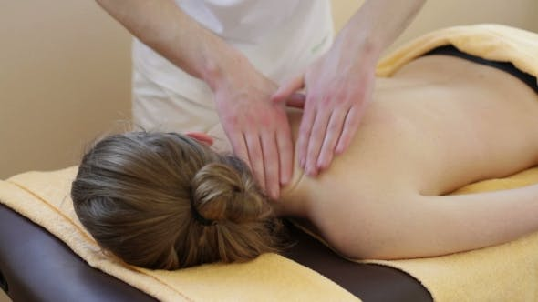 Cover Image for Male Hands Massage The Woman's Body
