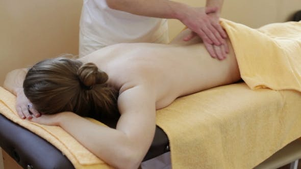 Thumbnail for Male Hands Massage The Woman's Body