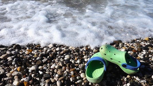 Thumbnail for Slippers near the Seaside and Waves 1