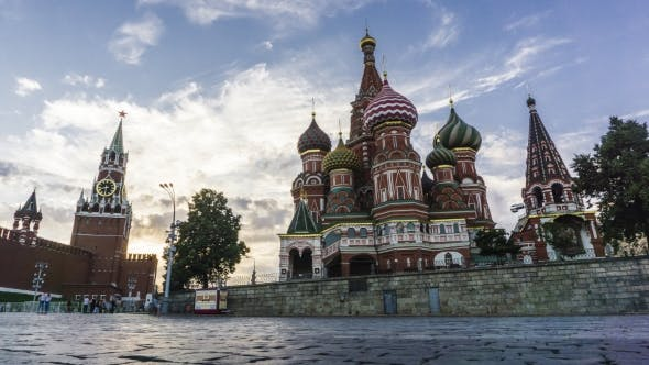 Thumbnail for Moscow Kremlin, Red Square And Saint Basil's Cathedral  Evening