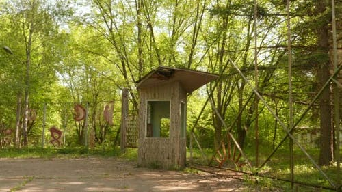Entry to the Abandoned Kids Camp