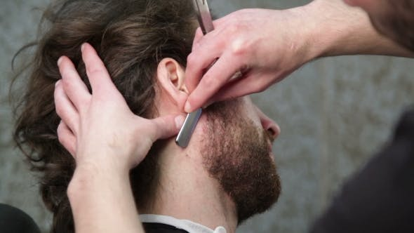 Thumbnail for Cutting Man's Beard With the Straight Razor