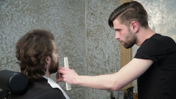 Thumbnail for Cutting  Beard With the Scissors and the Comb
