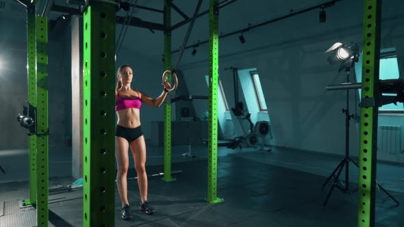 Thumbnail for Fitness Dip Ring Sexy Woman Workout At Gym