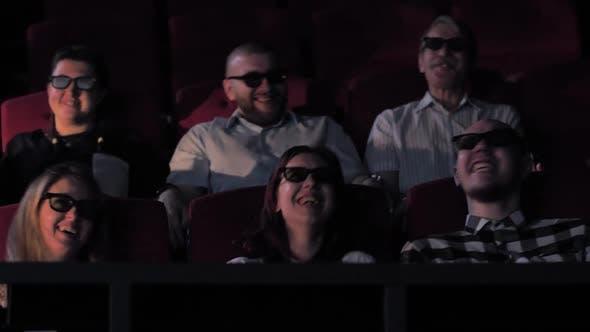 Joyful Viewers in 4Dx Cinema Hall of Movie Theater