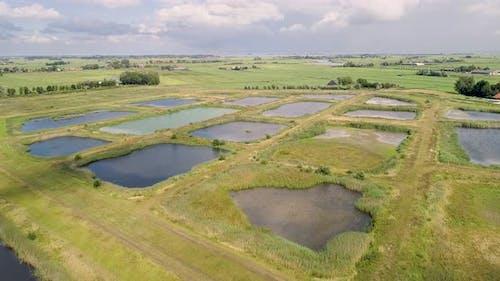 Aerial view of nature reserve Volgermeerpolder.