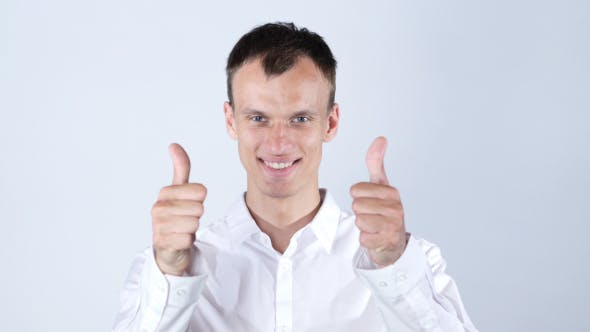 Thumbnail for Businessman Thumbs up, Both Hand, Success