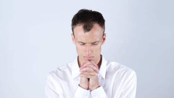 Cover Image for Humble Businessman Praying to God, Forgiveness
