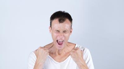 Depressed Man Screaming