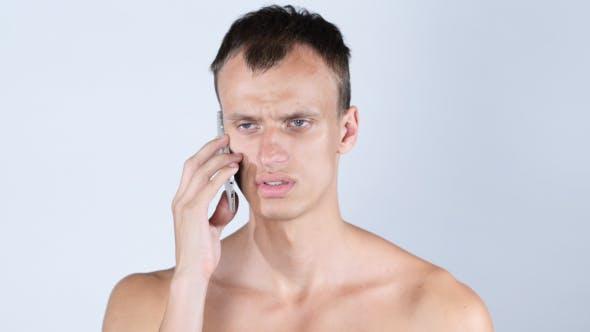 Thumbnail for Talking on Phone, Naked Man
