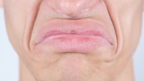 Cover Image for Sad Face, Lips Closeup