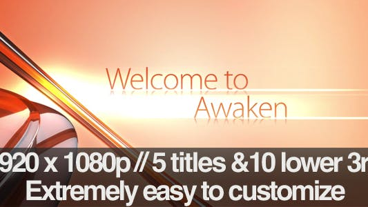 Thumbnail for Awaken - Section Titles & Lower 3rds Pack