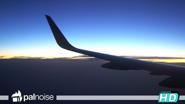 Thumbnail for Airplane Wing Sunset