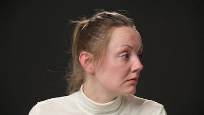 Sad Woman's Face