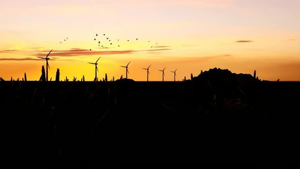 Thumbnail for Sunset Views and Wind Turbines