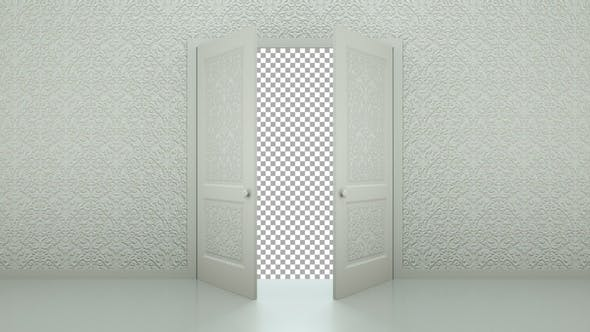 Decorated Open Doors Transition