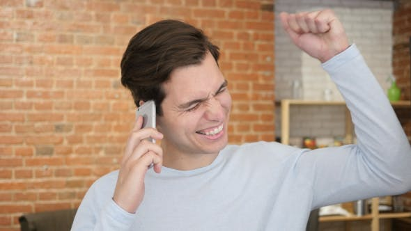 Cover Image for Excitement of Success during Phone CAll