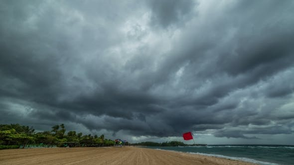 Thumbnail for Storm Clouds Fast Pass Over Nusa Dua Beach.   - Bali, Indonesia, June 2016.