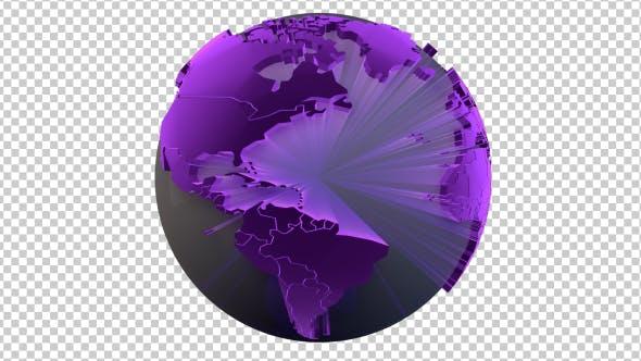 Thumbnail for Rotierende transparente Erde
