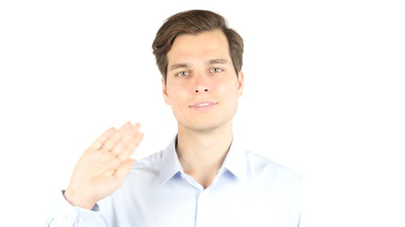 Thumbnail for Businessman Waving Hand, Gesture of Hello, Welcoming