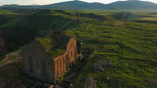 Armenian-Turkish border and Ani Ruins