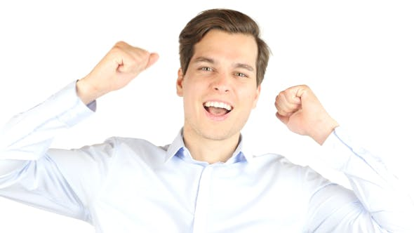 Thumbnail for Hapiness of Success, Excited Businessman